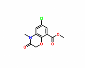 methyl 6-chloro-4-methyl-3-oxo-1,4-benzoxazine-8-carboxylate
