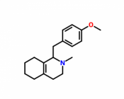 (-)-1-(p-methoxybenzyl)-2-methyl-1,2,3,4,5,6,7,8-octahydroisoquinoline